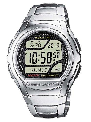 Casio Wave Ceptor Herren Digital mit Edelstahl Armbanduhr WV 58DE 1AVEF