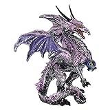 Nemesis Now Figurine Dragon Protector Violet 18 cm Taille 19 cm