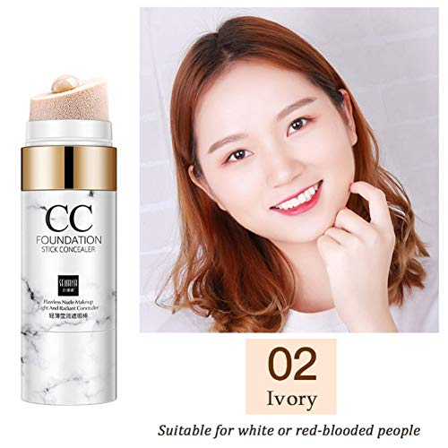 Ardorlove Concealer Makeup Air Cushion CC Stick Control Oil Long Lasting Waterproof Whitening Brightening Moisturizer for Face Cover Pimple Mark Dark Circle Acne -