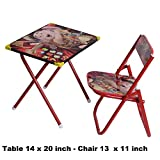#3: BIG Foldable Cartoon Study Desk for Kids Table Chair Set for Boys & Girls unisex