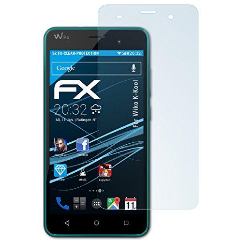 atFolix Schutzfolie kompatibel mit Wiko K-Kool Folie, ultraklare FX Bildschirmschutzfolie (3X)
