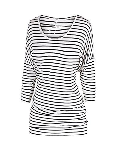 Sejora -  Maglia a manica lunga  - Donna Striped White