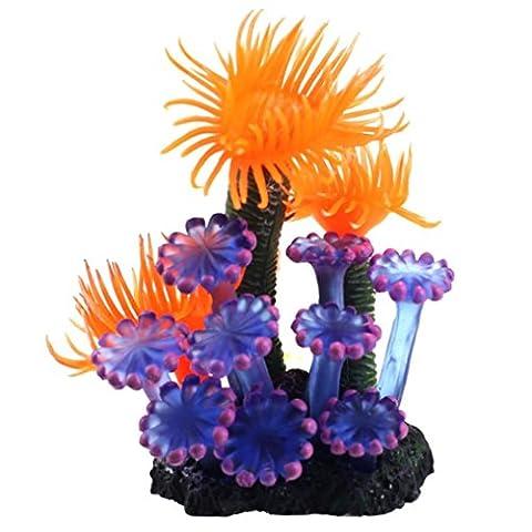 Aquarium DéCoration Kolylong Accueil Doux Plantes Artificielles Coral Fish Tank Decoration 8x6x5cm