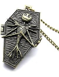 ShopyStore Bronze Popular Nightmare Before Christmas Vintage Quartz Pocket Watch Necklace Pendant