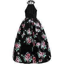 Vestido de verano de mujer, Dragon868 2018 nuevo estilo de las mujeres flores sin mangas