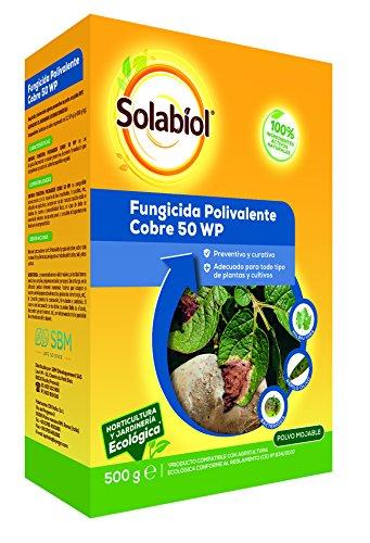Solabiol - Fungicida/bactericida de cobre 100% organico con accion preventiva y curativa, formato de 500g