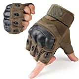 Best Motorcycle Riding Gloves - WTACTFUL Rubber Hard Knuckle Fingerless Gloves for Motorcycle Review