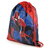 Marvel Ultimate Spider-Man Drawstring Gym Bag, Red/Blue