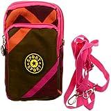 KISS GOLD(TM) Dual-Use Sporty Nylon Cellphone Pouch Mini Shoulder Bag Wristlet