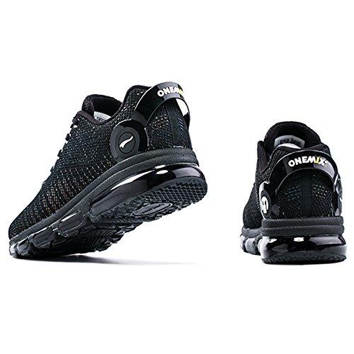 Onemix Uomo Donna Sneaker Colorful Reflections Trainers scarpe Nero