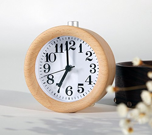 waycom-classic-silent-small-wood-alarm-clock-bedside-alarm-clock-with-nightlight-wooden
