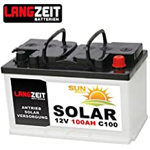 Solarbatterie 100Ah C100 12V Wohnmobil Boot Wohnwagen Camping Schiff Batterie Solar