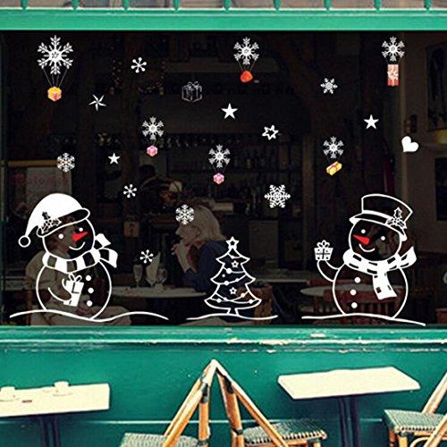Ularmo Schneemann Weihnachts-Fenster zeigen Aufkleber Wandtattoo