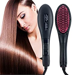 Fast Hair Straightener Brush with Temperature LCD Fancy And Stylish