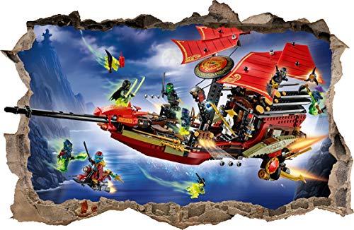 ARTWALL WANDAUFKLEBER Loch in der Wand Legos Ninjago Wand Aufkleber Wandtattoo 83 (70 x 46 cm)