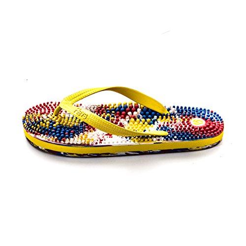 Revs, I sandali che massaggiano il piede seguendo i principi della riflessologia giapponese giallo multicolore