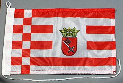 Preisvergleich Produktbild Bootsflagge Bremen 20 x 30 cm in Profiqualität Flagge Motorradflagge