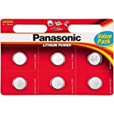 Panasonic CR2032 Lithium-Knopfzelle für Misfit Shine Sh0az, Monitor für persönliche körperliche Aktivitäten, 3V, 6 Stück