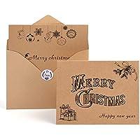 Kuuqa tarjetas de felicitación navideñas con sobres y pegatinas (36unidades).