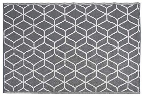 Dimension:70x140 cm T/&T Design Tapis Moderne Poils Longs Shaggy Vigo /À Motifs Noir Gris Blanc Super Prix/!