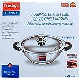 Prestige Platina Stainless Steel Kadai 240 Mm (2.8 Litre)