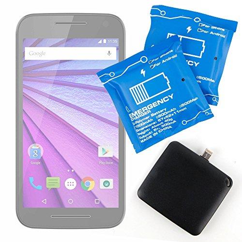 DURAGADGET Batteria di Emergenza USA E Getta Compatibile con cellulari Motorola Moto G (3rd Gen), G Play 4th Gen, G Plus 4th Gen, G5 Plus, G5, X Force, X Play, X Pure Edition, X Style