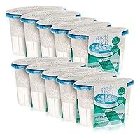 LIVIVO Pack of 10x 500ml Interior Dehumidifiers- Helps Stop Damp, Mildew, Mould Condensation Moisture Absorber Remover in Home Kitchen Wardrobe Bedroom Caravan Office Garage Bathroom, Basement