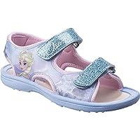 Leomil Girls Elsa Glitter Lightweight Flexible Casual Sandals
