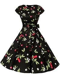 Dressystar Robe à 'Audrey Hepburn' Classique Vintage 50's 60's Style à Mancheron