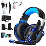G2000 Gaming Headset, Tsing Professionelle Gaming Kopfhörer mit Mikrofon, 3.5mm On Ear Surround...