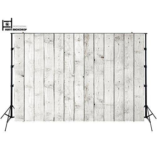 NIVIUS PHOTO 150x220cm horizontale weiß Holz Boden Gedruckt Fotografie kulissen Thin Vinyl Foto Hintergrund für Studio Neugeborenen ()
