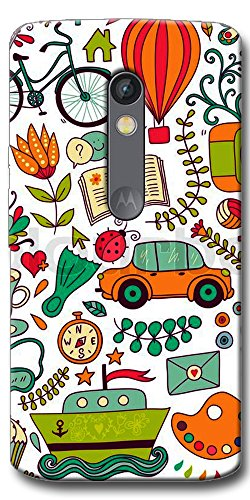 DigiPrints High Quality Printed Designer Soft Silicon Case Cover For Motorola Moto X Play