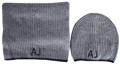 Emporio Armani Herren Mütze, Schal & Handschuh-Set grau grau onesize (Herren Von Für Armani Schal)