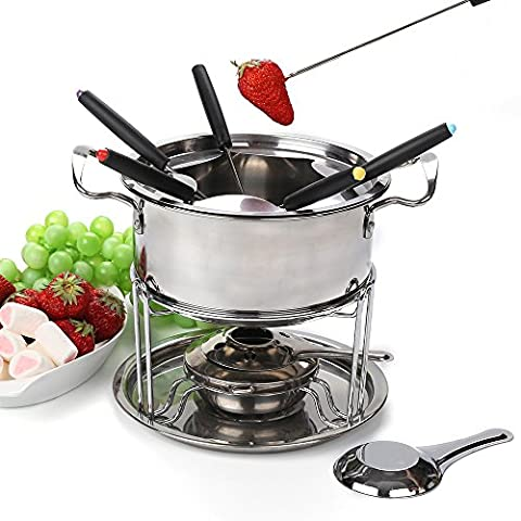 fondue set cheese Stainless steel of 6 forks/ DIY chocolate