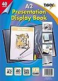 Tiger Sichtbuch, A2, Klarsichthüllen, Schwarz, 40 Seiten