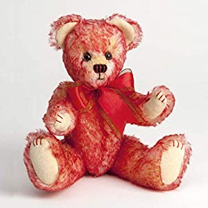 Canterbury Bears ltd 175 Purdy Mohair - Oso de Peluche, Color Rojo