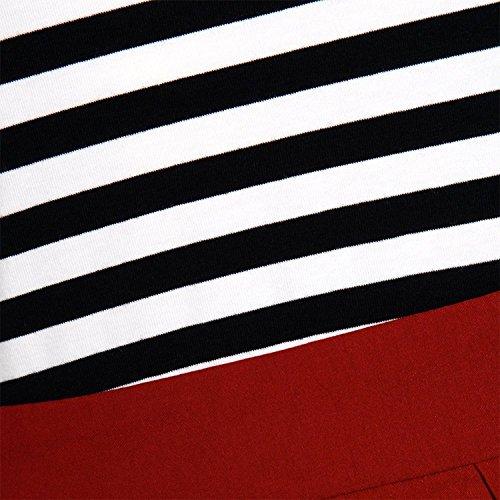 VENFLON - Robe - Trapèze - Manches 3/4 - Femme noir/rouge