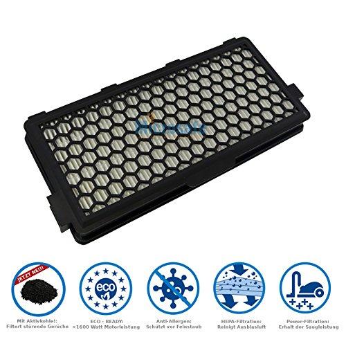 Active Filtre Airclean compatible pour Miele série Compact C2 (SF-AA 50, SF-AP 50, SF-HA 50, SF-AH 50, 7226150, 722617) de Microsafe