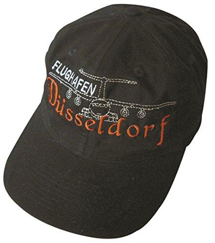 Preisvergleich Produktbild Fan-O-Menal Baseballcap mit Einstickung - Flughafen Düsseldorf Airbus - 68038 schwarz