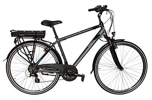 Telefunken E-Bike Herren Elektrofahrrad Alu 28 Zoll mit 21-Gang Shimano Altus Kettenschaltung, Pedelec Trekkingrad mit Hinterrad-Motor 250W 10Ah, 36V Akku, XT468 Expedition