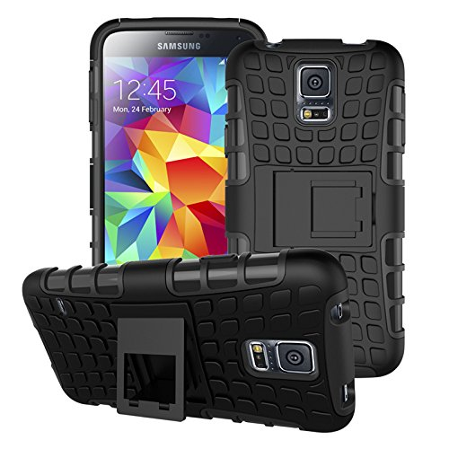 for Samsung Galaxy S5 : CASSIEY Hard Hybrid Armour Rubber...