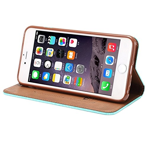 Phone case & Hülle Für IPhone 6 Plus / 6S Plus, Krokodil Textur Magnetische horizontale Flip Leder Tasche mit Halter & Card Slot ( Color : White ) Baby Blue