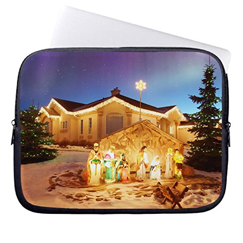 hugpillows-laptop-sleeve-bag-outdoor-christmas-nativity-scene-notebook-sleeve-cases-with-zipper-for-