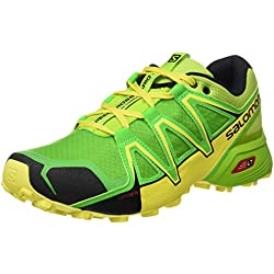 Salomon Speedcross Vario 2 Zapatillas de Running y Trail Running, Hombre, Verde (Lime Green/Classic Green/Black), 43 1/3