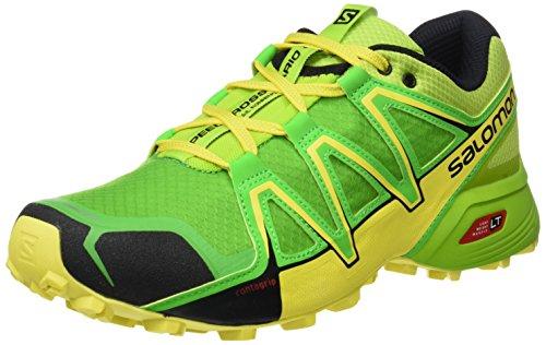 Salomon Speedcross Vario 2 Herren Trailrunning-Schuhe, Lime Green/Classic Green/Black, 42 2/3 EU (Herren 2 Laufschuhe)