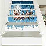 Weihnachten Verkleiden Sich Kreative Treppen Aufkleber Weihnachten Wagen Aufkleber Wasserdicht Abnehmbare 100 * 18 Cm 13 Stücke