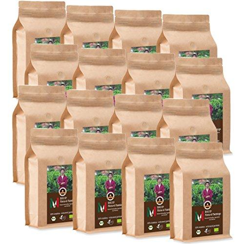 Kaffee Globetrotter - Mexico Finca El Flamingo - Bio - 16 x 1000 g Grob Gemalen - für...