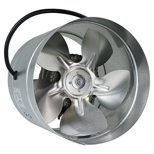 Conducto Inline 160mm fan de zinc de metal chapado en ARW la canalización extractor industrial