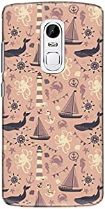 The Racoon Grip printed designer hard back mobile phone case cover for Lenovo Vibe X3. (Pale Sea S)