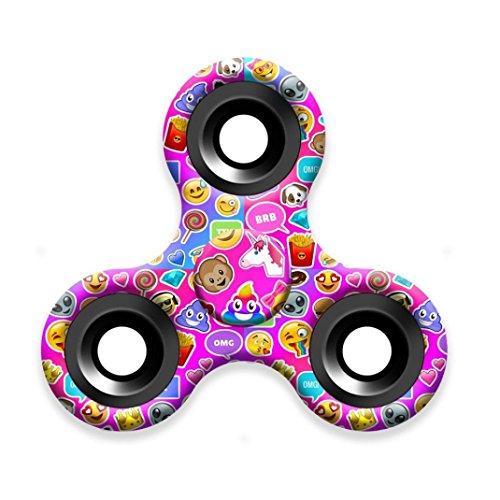 Preisvergleich Produktbild Saingace Emoji Fidget Hand Finger Spinner EDC Focus Stress Reliever Spielzeug Camouflager Spielzeug